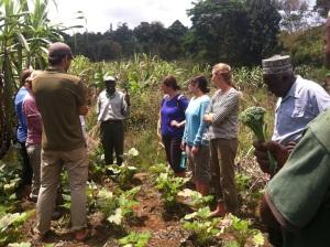 Project Coordinators listening to Mzee Mwambo