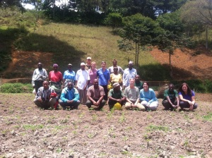 The whole crew at Mzee Johnny's  farm
